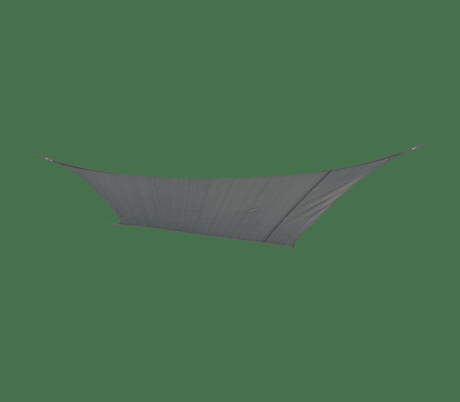 Schaduwdoek ruit grijs 3,6x3,6m