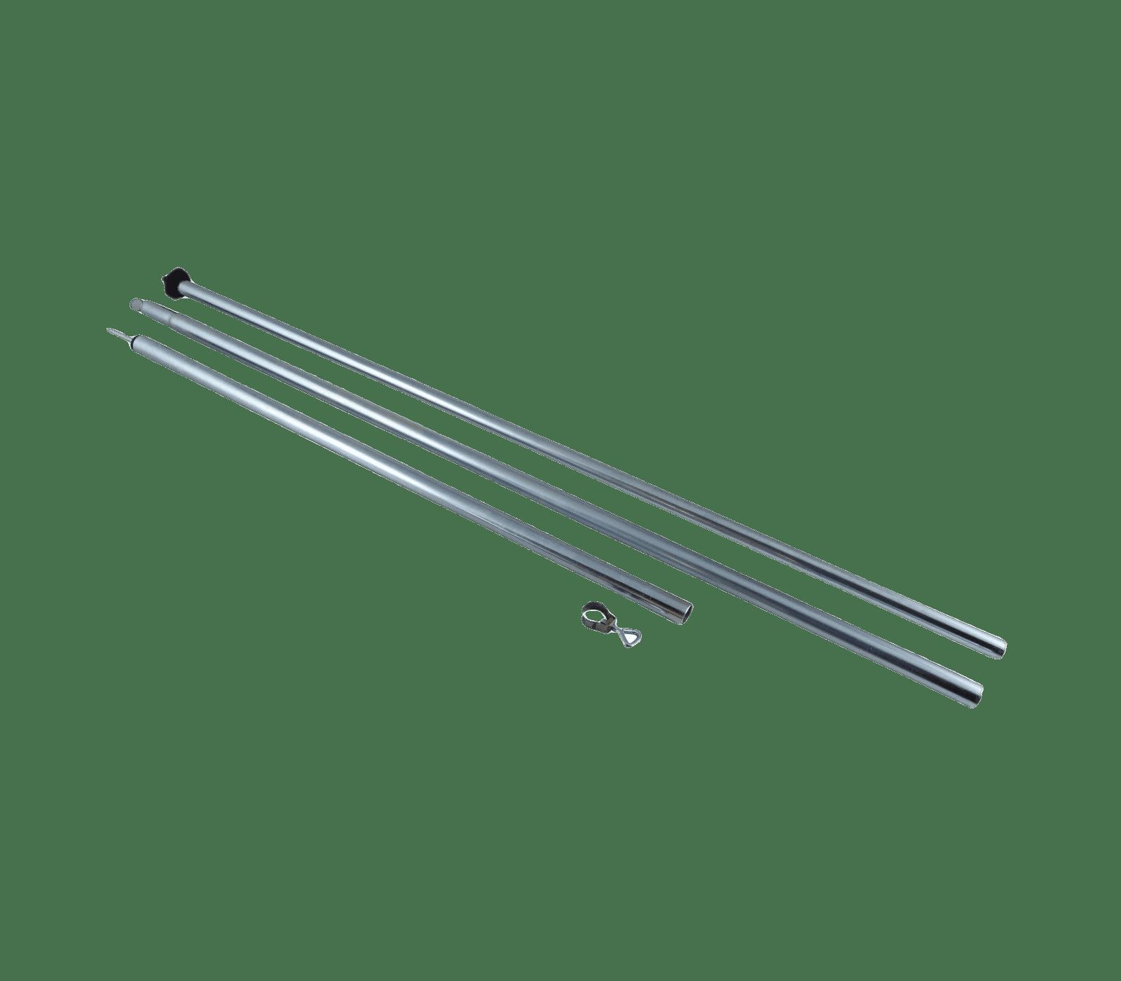 Tentstok 170-260cm staal 19/22mm