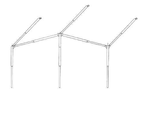 Easygrip frame staal 25mm - 270/300 cm