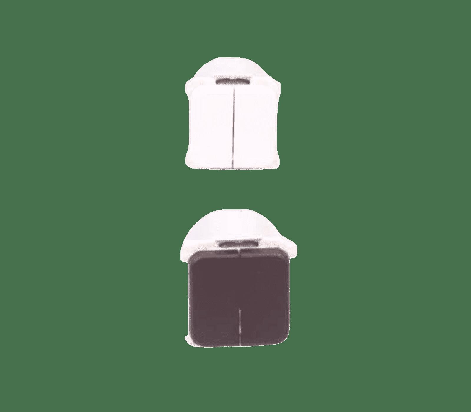 Wipschakelaar dubbel presto inbouw