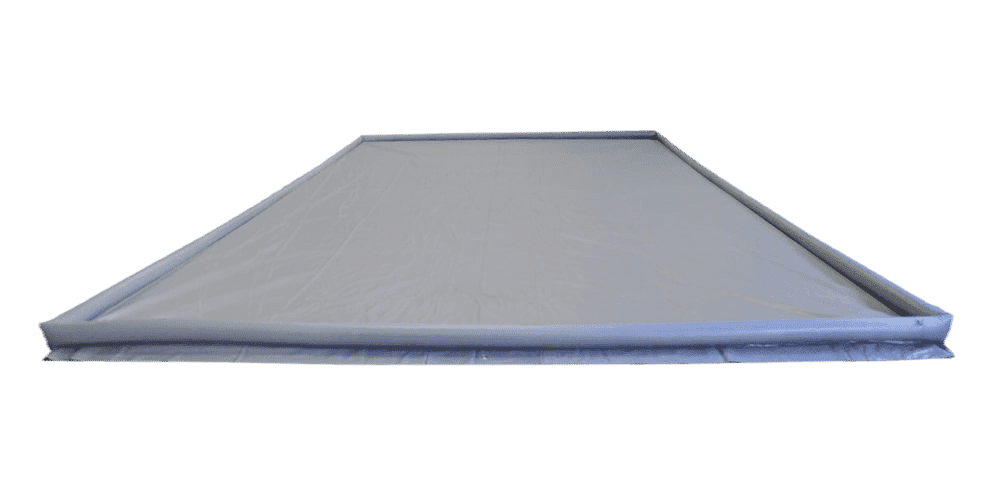 Pvc sheet met opblaasbare rand 2,5x5 mtr