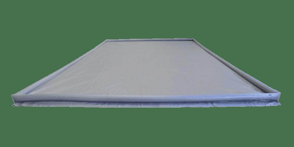 Pvc sheet met opblaasbare rand 3x6 mtr