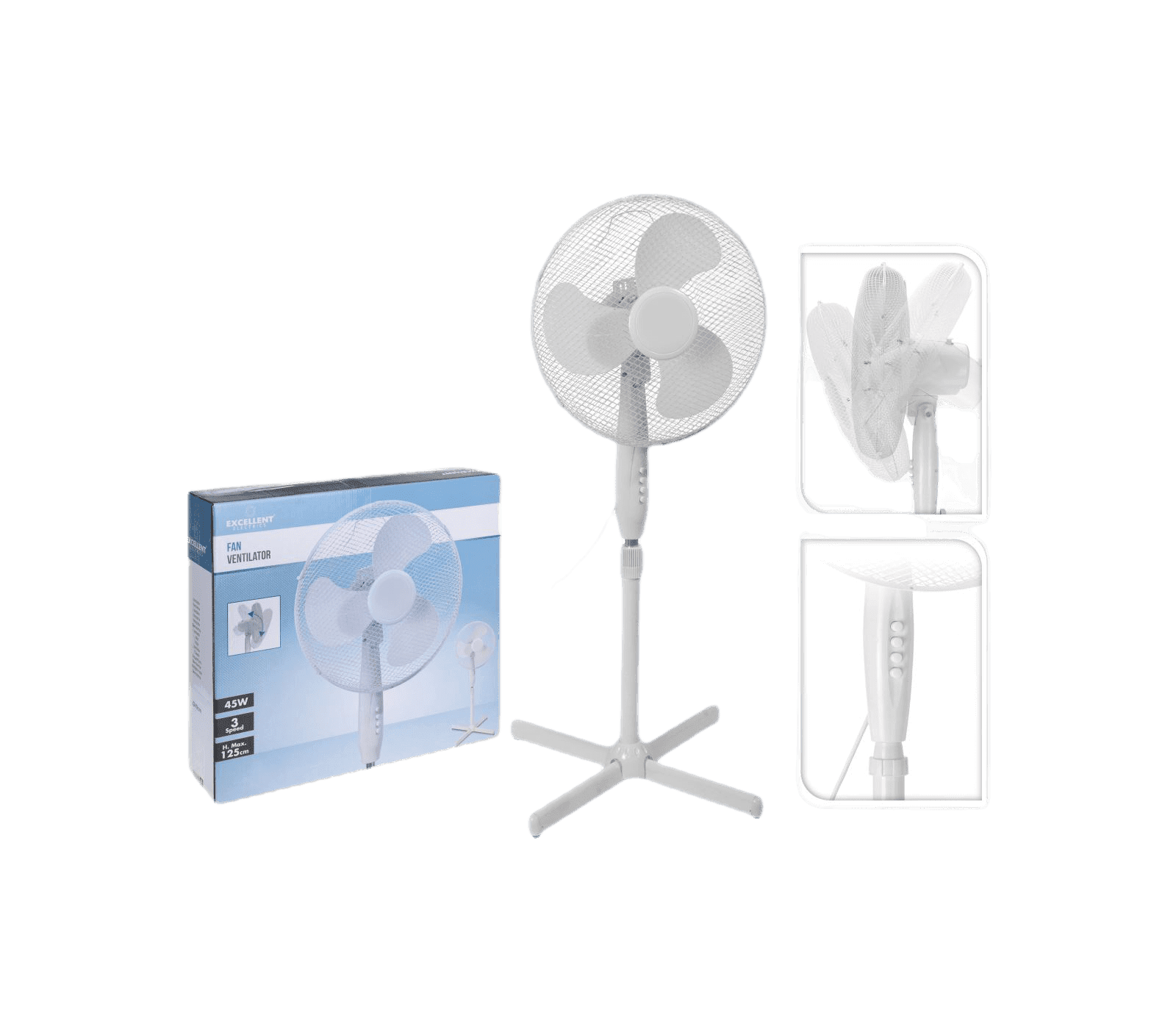 Ventilator staand dia 40cm wit