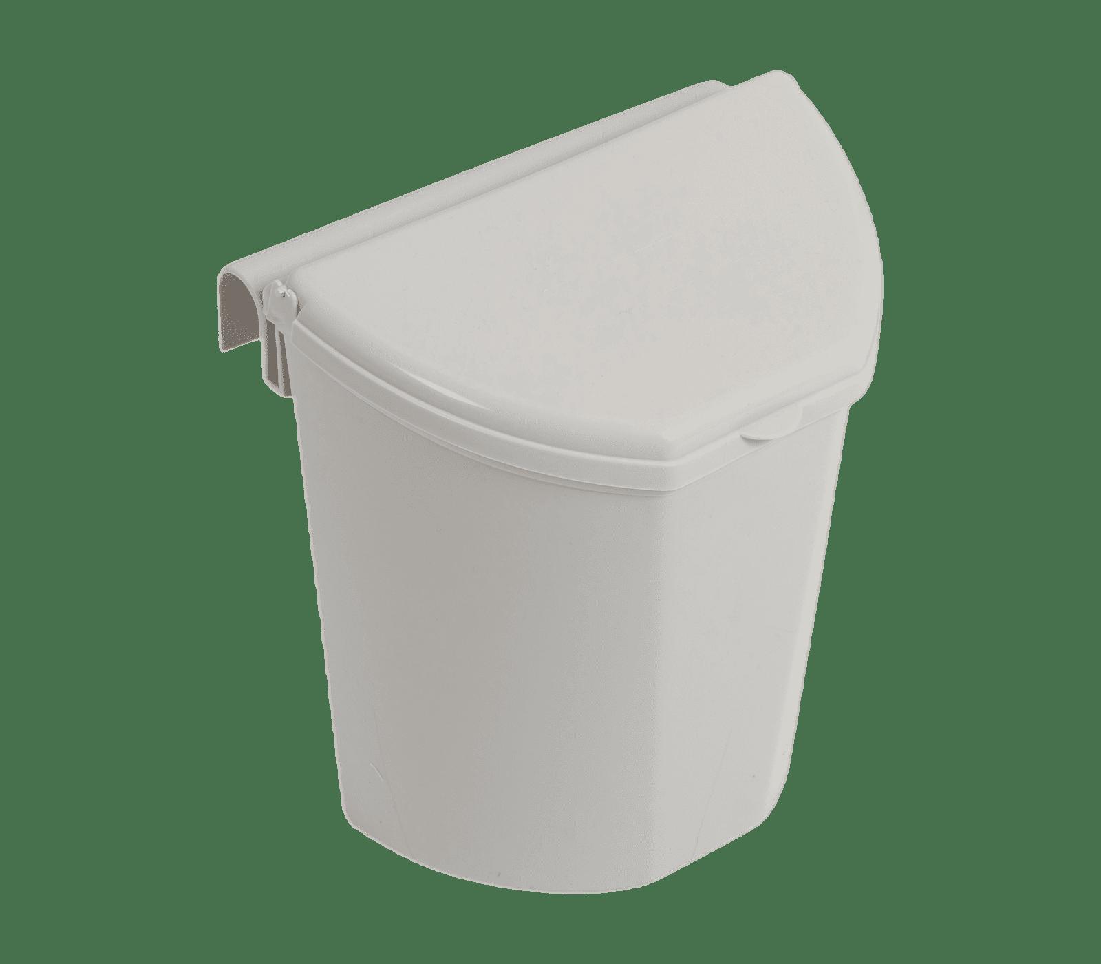 Afvalbak met hanger grijs