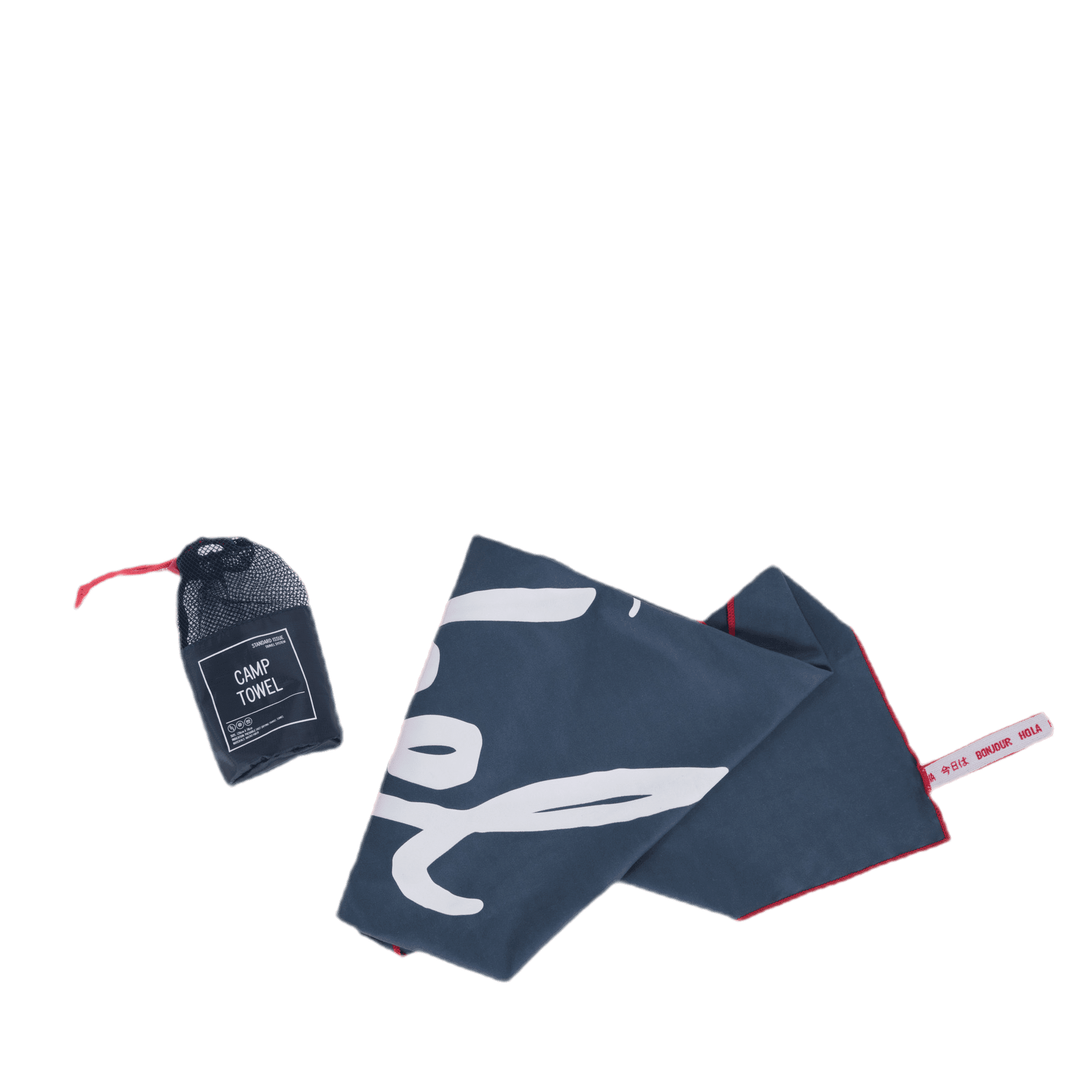 Camp towel navy/red