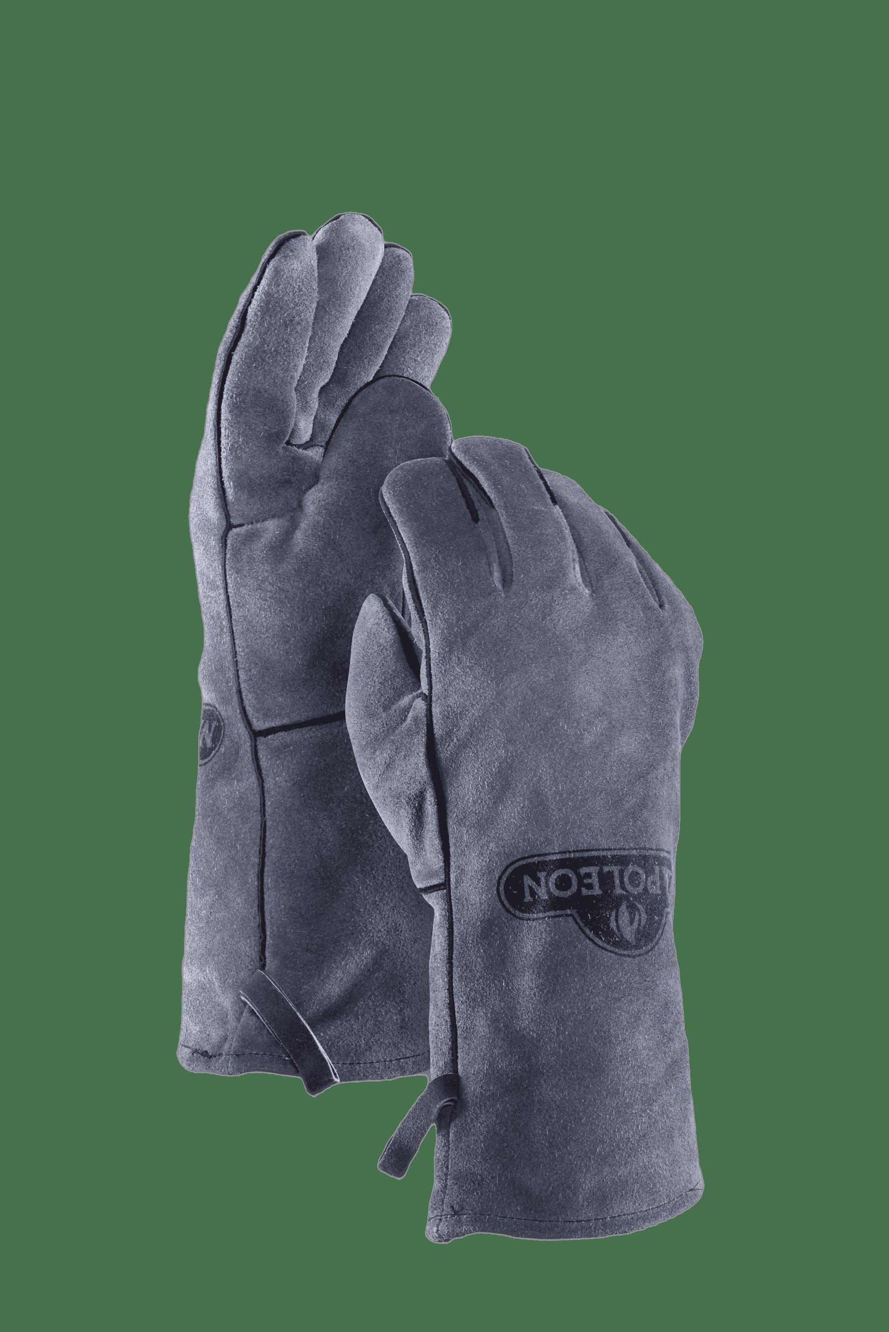 Lederen bbq-handschoenen