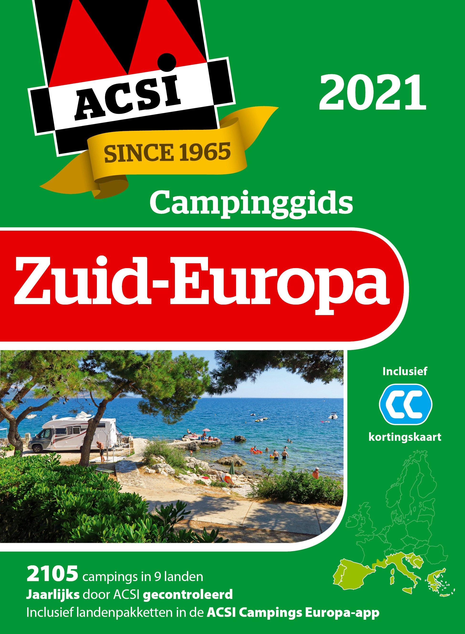 Campinggids zuid-europa 2021 + app
